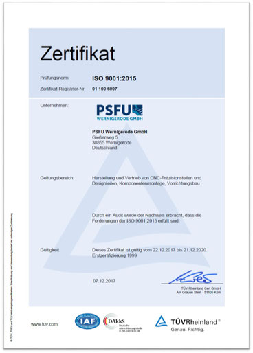 Gerne können Sie das Zertifikat in unserem Downloadbereich für Ihre interne Dokumentation herunterladen.