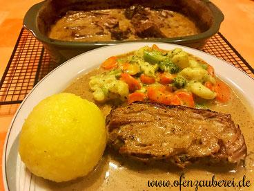 Rinderbraten Rinderschmorbraten mit Rahmsauce im Ofenmeister oder Zaubermeister vom Pampered Chef Onlineshop bestellen