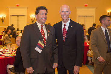 Dr. Sandford Silverman with Governor Scott