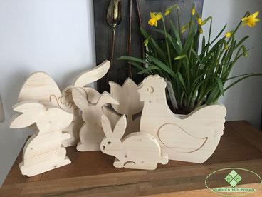 Holzdekoration Ostern