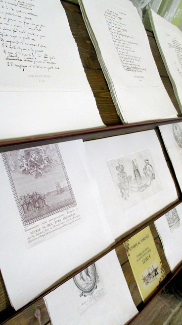 Stampe al torchio dei diversi Canti, su pregiata carta Fabriano