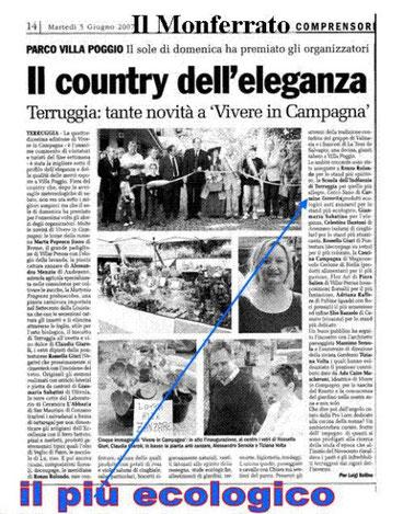 PREMIO DEL PRODOTTO PIU' ECOLOGICO ANNO 2007