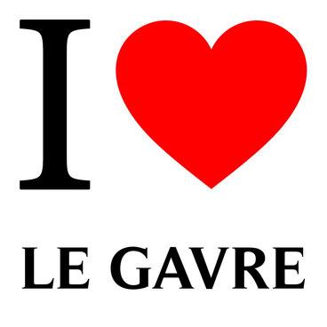 slogan I love le gavre avec un coeur rouge