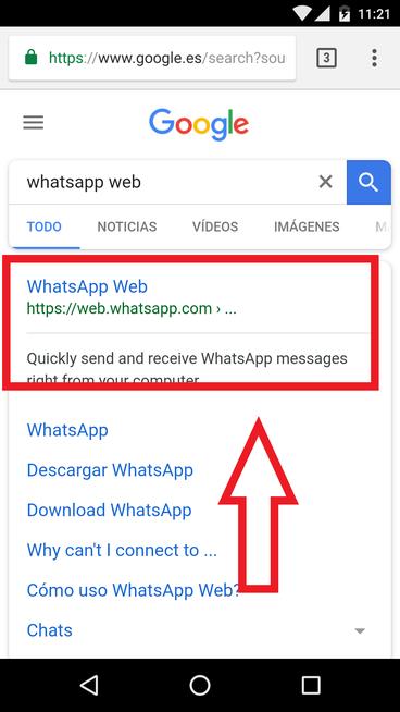 WhatsApp Web Usando El Navegador En Android