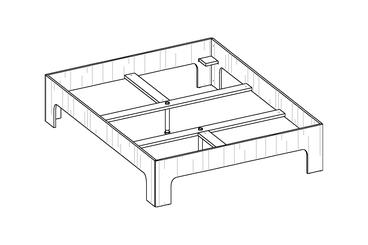room³ Doppelbett (160 und 180 cm Bettbreite)