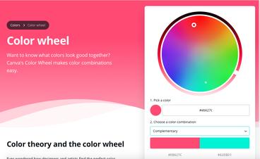 Das Farbenrad von Canva