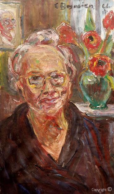 Erwin Bowien ( 1899-1972): Bildnis der Mutter Annemarie Bowien in Weil am Rhein, 1966