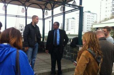 Bobby Seale en grundlæggerne af  Black Panther Party  talte til Panternes 1. maj arrangement i 2012 i Göteborg