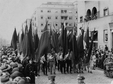 Socialdemokratisk arbejderdemo, Wien i 1920´erne