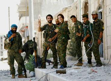 20. august 2016:  Kurdiske styrker i Sehba området, Rojava
