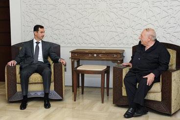 Møde ml. Bashar al-Assad og PFLP-CGs formand Ahmed Jibril, Damaskus d. 13.juni 2012