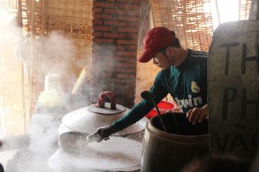 Fabrication des nouilles chinoises