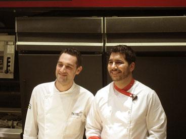 スペイン料理実演ショーで来日、フラン・ビセンテ氏とホセ・ダビッド・フェルナンデス・ポルタレス氏