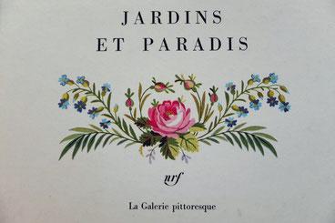 Robert Mallet, Jardins et Paradis, illustration de première de couverture. © Librairie Gallimard