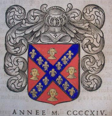 Armoiries de Mathieu de Barbafust, mayeur en 1414                                      © BM Abbeville