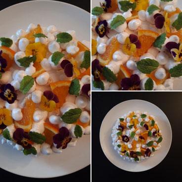 Orangen- Baiser Torte