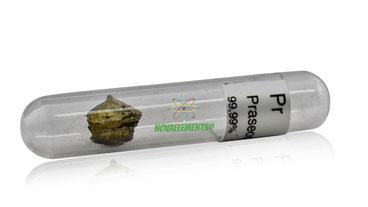 praseodymium metal, praseodymium oxide free sample, praseodymium argon sealed sample, praseodymium shiny sample, praseodymium acrylic cube, praseodymium cube, nova elements praseodymium metal