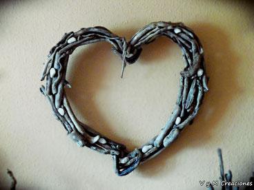 driftwood heart, driftwood art, cuadro corazón, corazón madera, decoración hippie, cuadro palos, decoración rústica