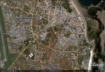Insediamenti intorno alla città di Malindi