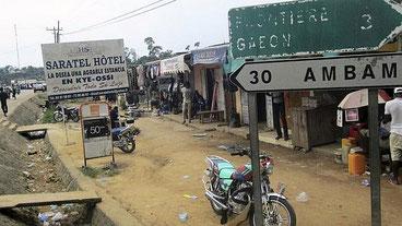 Kyé Ossi,, città di frontiera tra Camerun e Guinea equatoriale