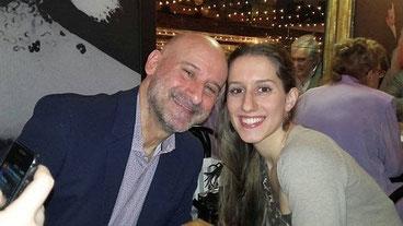 Silvia Costanza Romano con il padre Enzo Romano