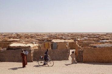 Campo per sfollati nel nord-est della Nigeria