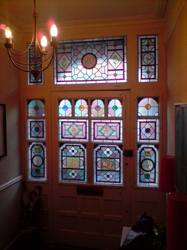 Front Door Stained Glass by rossglassdesign