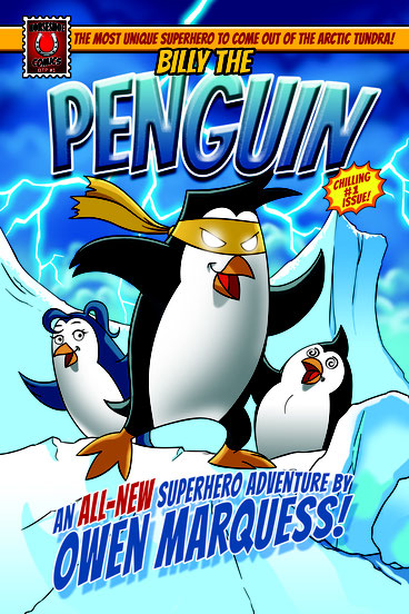 Comic creator Aaron Warner introduces Billy The Penguin as first freelance opportunity to other artists.