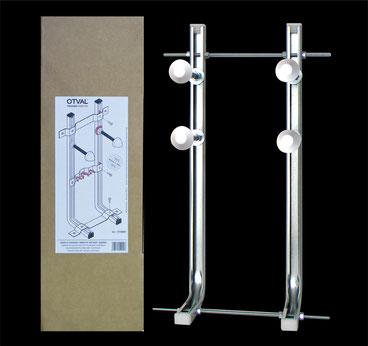 Staffa universale per WC disabili ad assemblaggio rapido