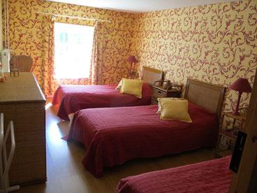 La chambre enfants suite familiale au Masbareau maison d'hôtes proximité Saint-Léonard-de-Noblat, Limoges, Haute-Vienne, Limousin, Nouvelle-Aquitaine