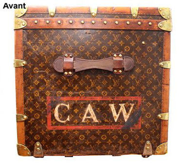 repainted side of the louis vuitton mail trunk