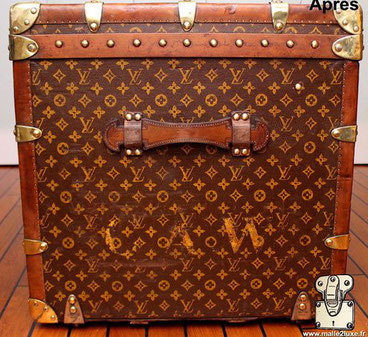 Perfect louis vuitton trunk with first choice leather handle