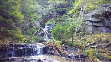 Wasserfälle liegen am Trail