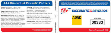 ADAC/AAA Discount Card
