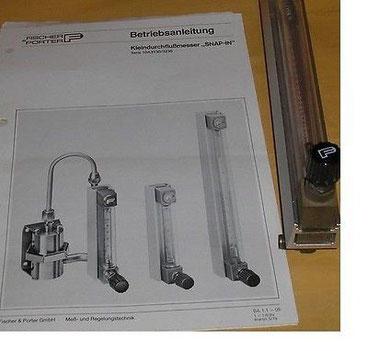 Kleinflussmesser 31-2350 Liter / Stunde für die  Chemie