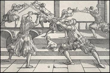 Schwertkampf in Joachim Meyers 1570er Fechtbuch