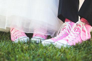 Converse für die Hochzeit