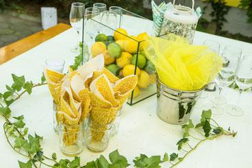 Zitronen, Limetten und andere Früchte bei der Hochzeit - Hochzeitstrend 2019