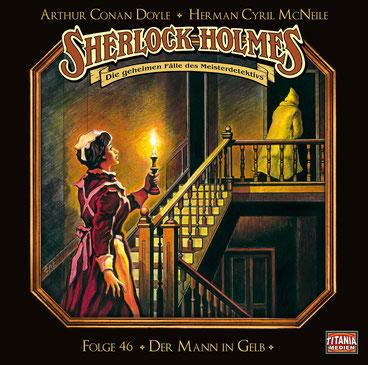 CD-Cover Sherlock Holmes Der Mann in Gelb