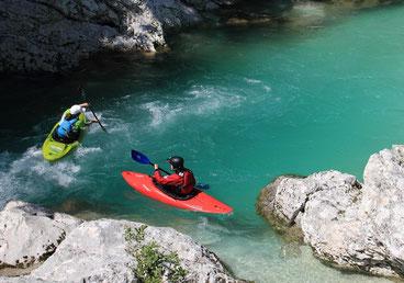 Paddle like a girl, und nutze die Strömung! Soca, Juni 2014
