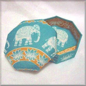 インド象の八角形布箱