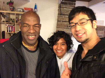 "My Capoeira Master ""mestre Beiçola"" and megha,and me"