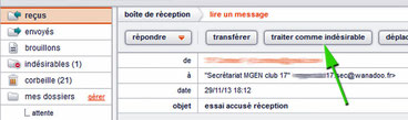 spam chez Orange