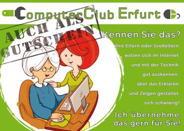 Gutschein, Smartphone-Unterricht, Tablet-Unterricht, Computerkurs, Computer-Unterricht, Erfurt, Hilfe, Geschenk