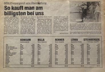 Bericht NÖN Woche 38/1985
