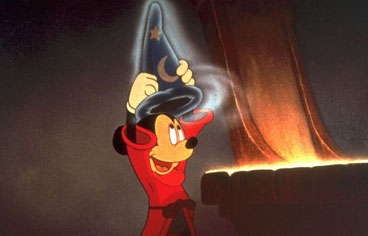 l'apprenti sorcier fantasia walt disney