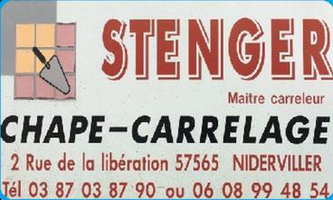 Carte de visite du Maître carreleur STENGER