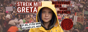 31.5.19 Wien: Streik mit GRETA - No Future On a Dead Planet: Bild Fridays for Future Vienna  Foto Anders Hellberg