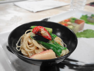 Capellini with miso marineted tofu sauce by SLP