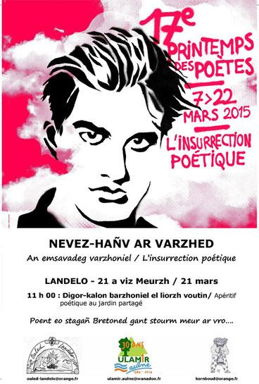 Nevez-Hañv ar Varzhed / Printemps des Poètes 2015 - Landeleau